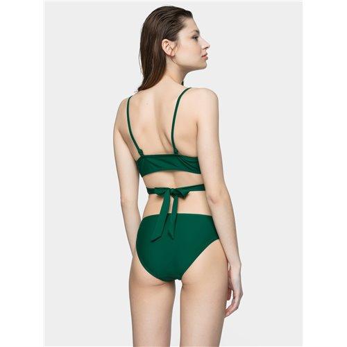 Strój kostium kąpielowy damski 4F KOS003G H4L21 zielony (góra)
