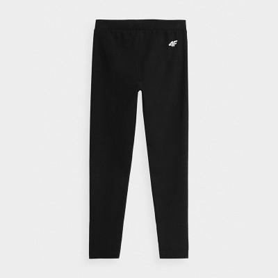 Legginsy Spodnie Dziewczęce 4F JLEG001 HJZ21 Czarne