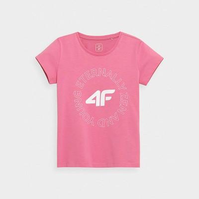 Koszulka Dziewczęca 4F JTSD002 HJZ21Różowa