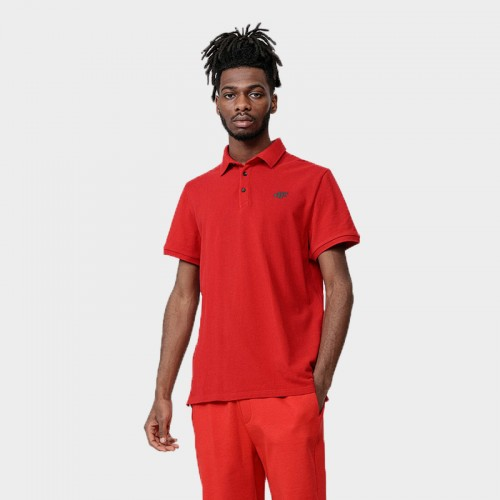 Koszulka Polo Męska 4F TSM356 NOSH4 Czerwona