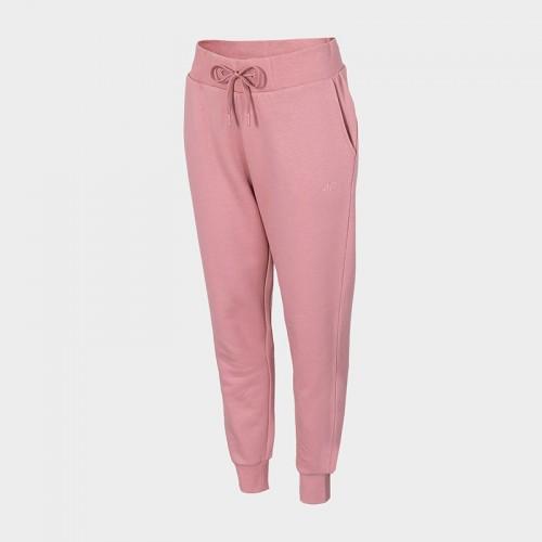 Spodnie Dresowe Damskie 4F SPDD350 NOSH4 Jasny Róż