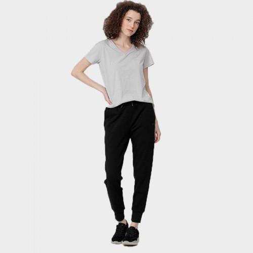 Spodnie Dresowe Damskie 4F SPDD350 NOSH4 Czarne