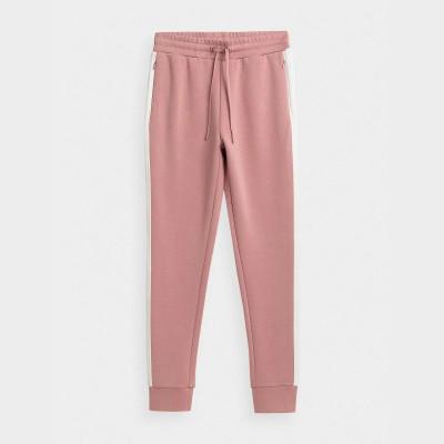 Spodnie Dresowe Damskie 4F SPDD013 H4Z21 Jasny Róż