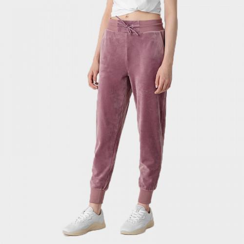 Spodnie Dresowe Damskie 4F SPDD014 H4Z21 Jasny Fiolet