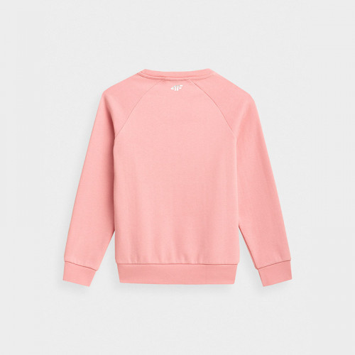 Bluza Dziewczęca 4F JBLD007 HJZ21 Jasny Róż