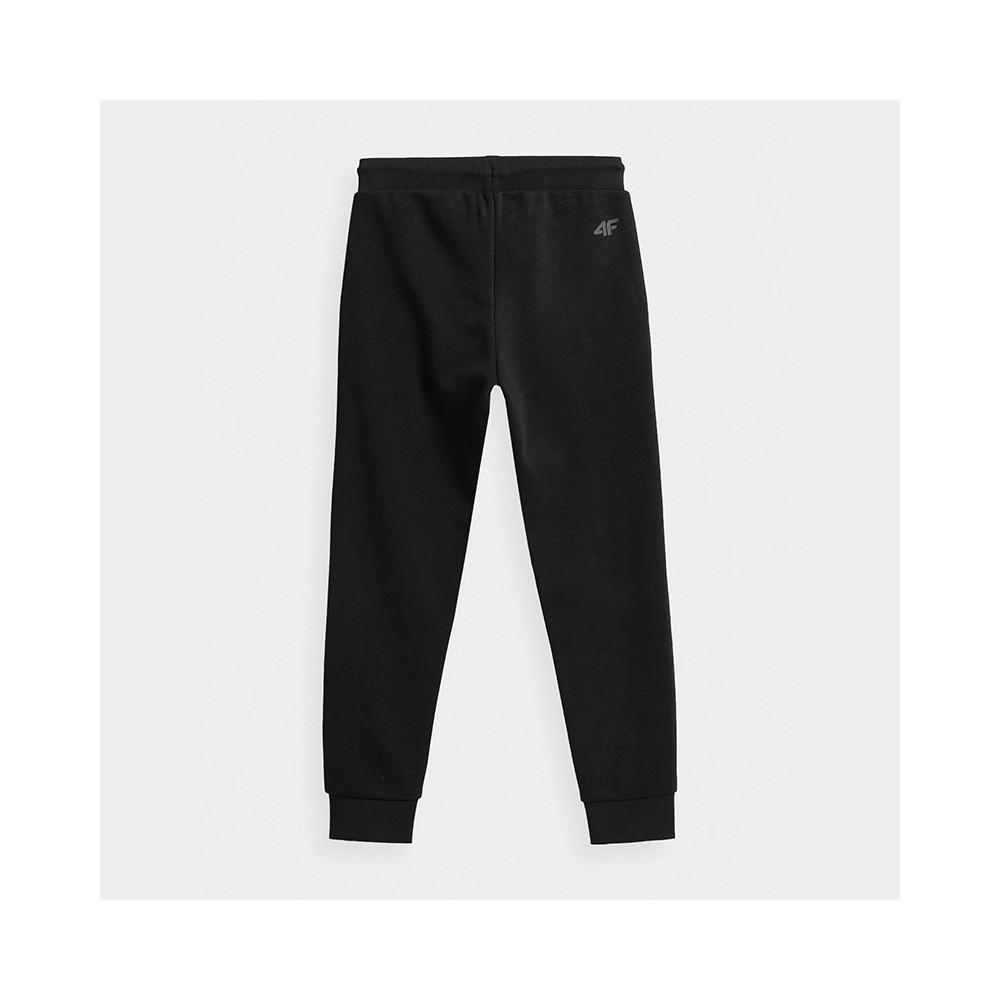 Spodnie Dresowe Chłopięce 4F JSPMD001 HJZ21 Czarne