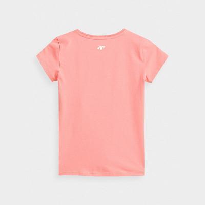 Koszulka Dziewczęca 4F JTSD009A HJZ21 Jasny Róż