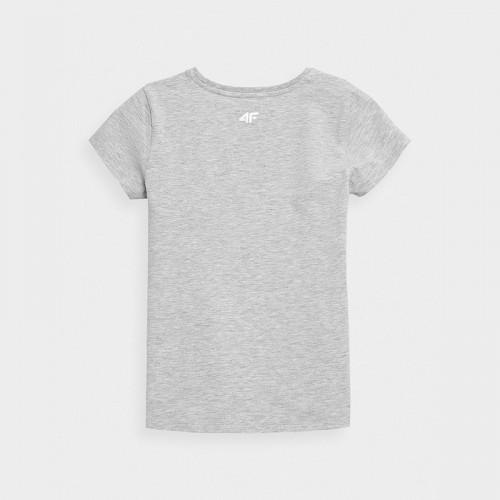 Koszulka Dziewczęca 4F JTSD009 HJZ21 Szara