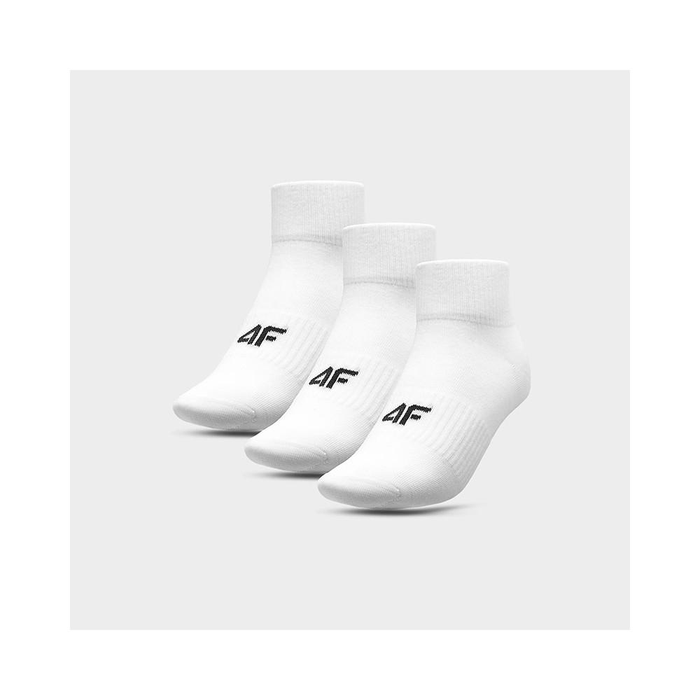 Skarpety 4F SOM302 NOSH4 (3-pak) Białe