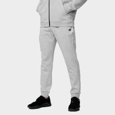 Spodnie Dresowe Męskie 4F SPMD350 NOSH4 Jasny Szary