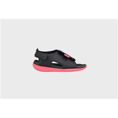 Sandały Dziecięce Nike Sunray Adjust AJ9077-002 czarny + róż