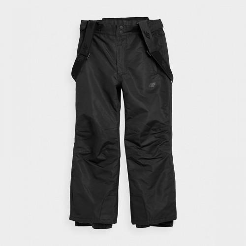 Spodnie Narciarskie Chłopięce 4F JSPMN001 HJZ21 Czarne