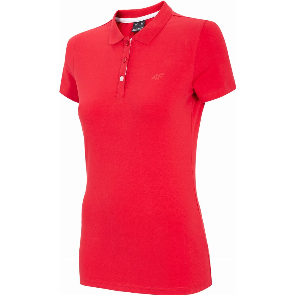 Koszulka T-shirt Polo Damski 4F TSD008 NOSH4 czerwona