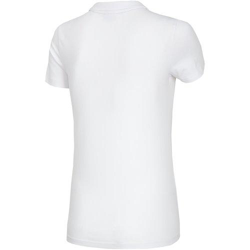 Koszulka T-shirt Polo Damski 4F TSD008 NOSH4 biała